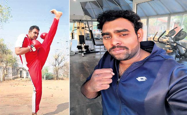Uday Sagar Champion in Kickboxing - Sakshi