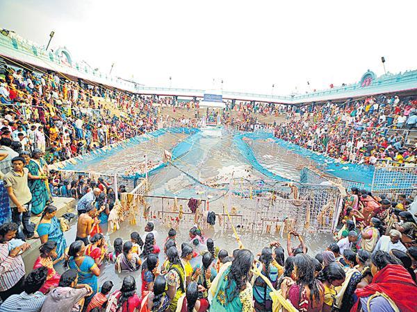 Godavari water for Rajanna Pushkarini - Sakshi
