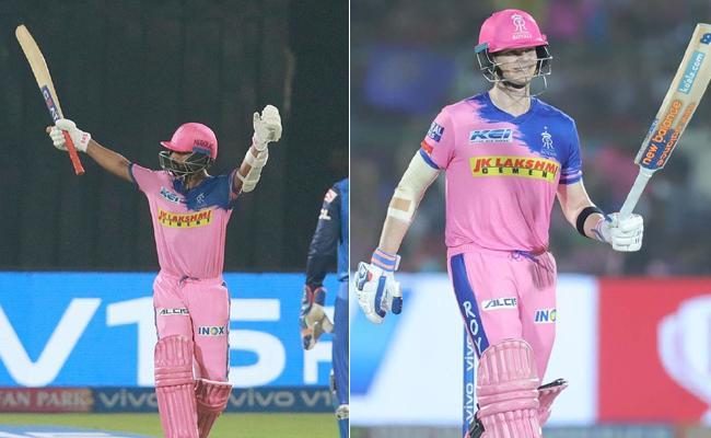IPL 2019 Rahane Hits Century Rajasthan Posts 191 Runs Against Delhi - Sakshi