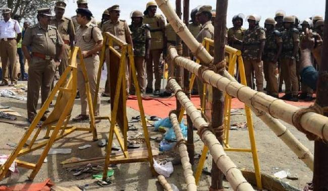 Seven killed in temple stampede near Tiruchirapalli - Sakshi