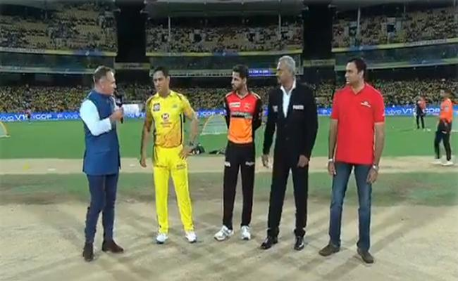 CSK Won The Toss And Elected to Field First Against SRH - Sakshi