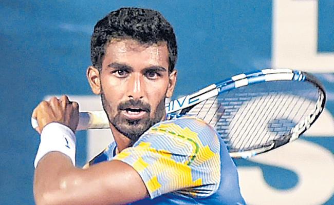Prajnesh Gunasekaran get the best rank - Sakshi