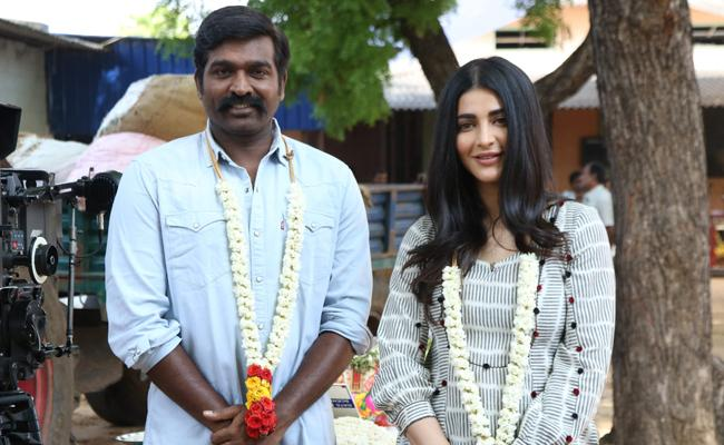 Shruti Haasan and Vijay Sethupathi Team Up For The First Time - Sakshi