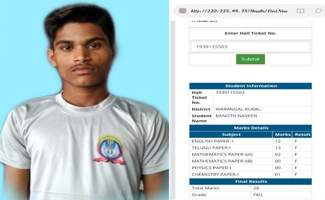 Inter Student Suicide At Nekkonda Railway Station - Sakshi