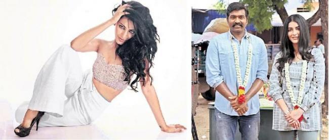 shruti haasan, vijay sethupathi new movie labham - Sakshi