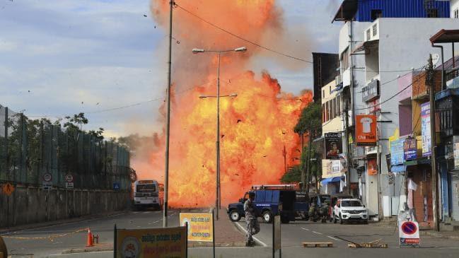 Fresh blast in Colombo, Van parked near St Anthony Church explodes - Sakshi