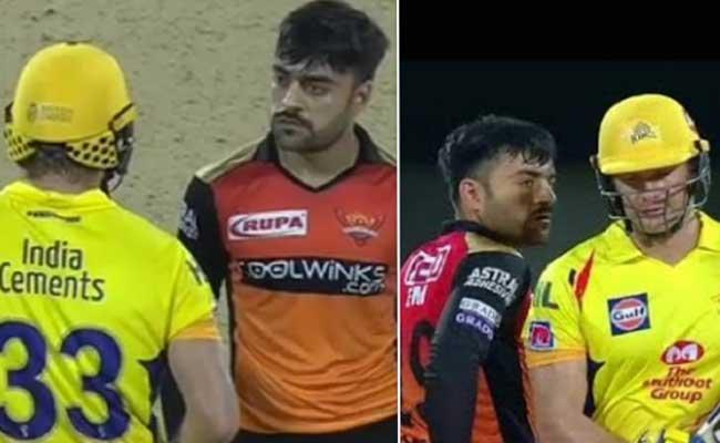 Rashid Khan Tries To Intimidate Shane Watson - Sakshi
