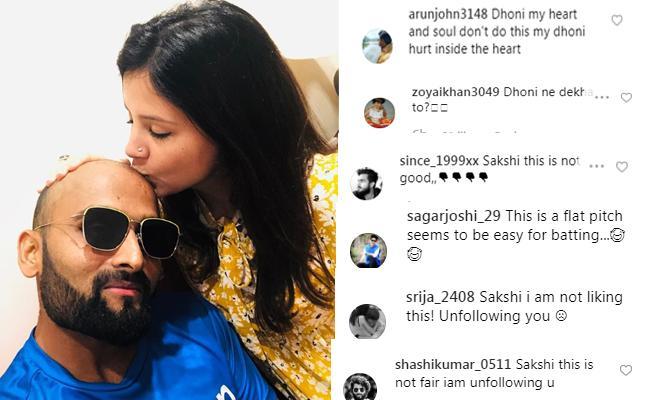 Netizens fires on Sakshi Singh Instagram post
