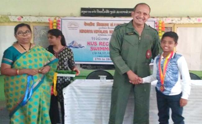 Srikakulam Boy Talent in Swimming - Sakshi
