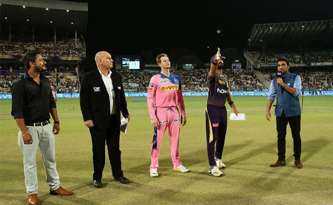 Rajasthan Royals Won The Toss and Opted to Field Against KKR - Sakshi