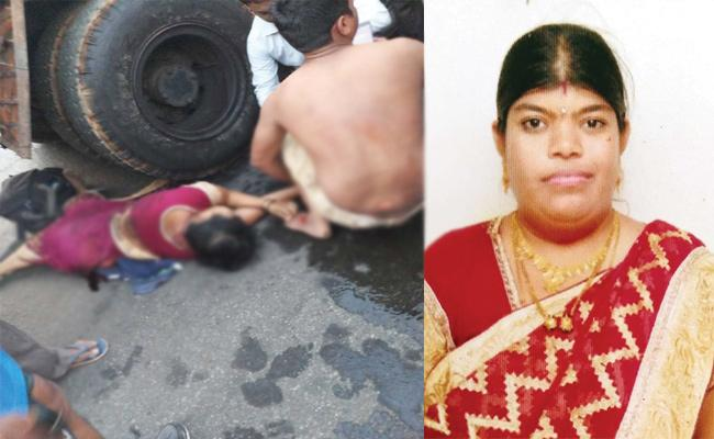 Pregnant Woman Dies in Bike Accident Visakhapatnam - Sakshi