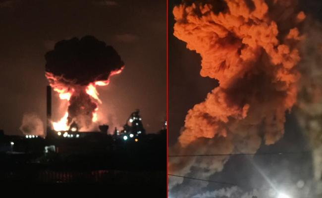 Explosion at TATA Steelworks plant in Port Talbot - Sakshi