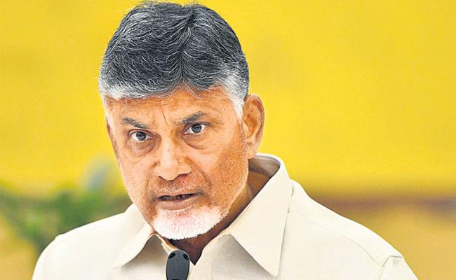 Chandrababu in teleconferencing with tdp sequences - Sakshi