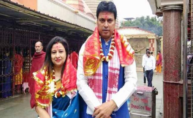 Fake News Spread About Tripura CM Wife Says Cheap Publicity - Sakshi