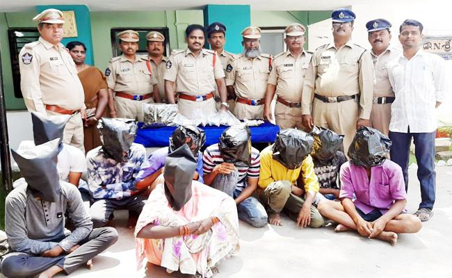 Marijuana Smugglers Arrested in Kurnool - Sakshi