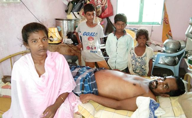 Family Waiting For Helping Hands in Chittoor - Sakshi