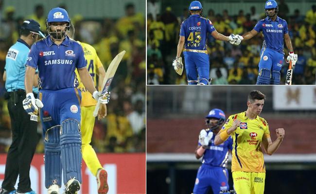 Mumbai Indians Set Target of 156 Runs Against CSK - Sakshi