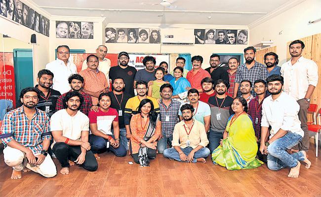 Actor Uttej Launch New Acting School Mayura Talkies - Sakshi