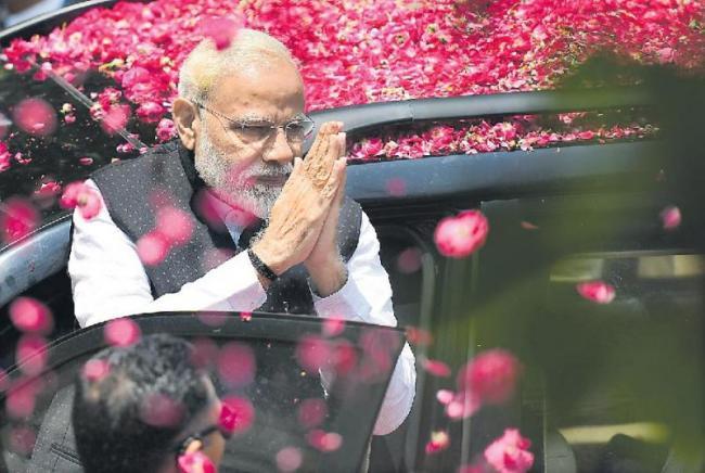 PM Modi Files Nomination Papers From Varanasi - Sakshi