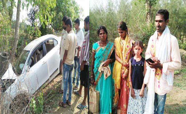 New Couple Injured in Car Accident Visakhapatnam - Sakshi