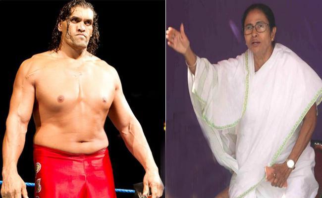 TMC writes to EC against wrestler Khali campaigning for BJP - Sakshi