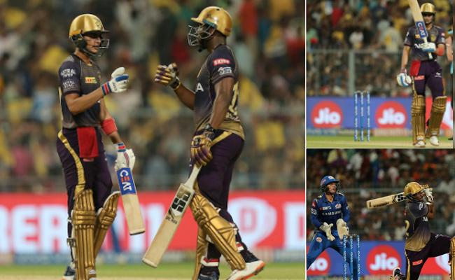 Russell lifts KKR to seasons highest total - Sakshi