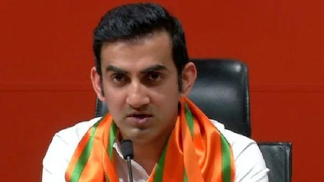 FIR against Gautam Gambhir for holding rally without permission - Sakshi
