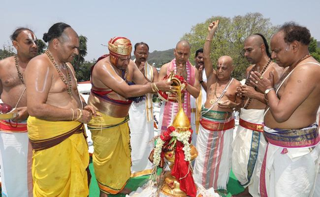 Special Prayers Varaha Lakshmi Narasimha Swamy Temple - Sakshi