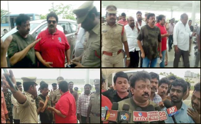 vijayawada police clarity on Varma Detained In Gannavaram airport - Sakshi