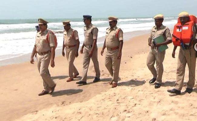 Alert in Marine Beach Prakasam - Sakshi