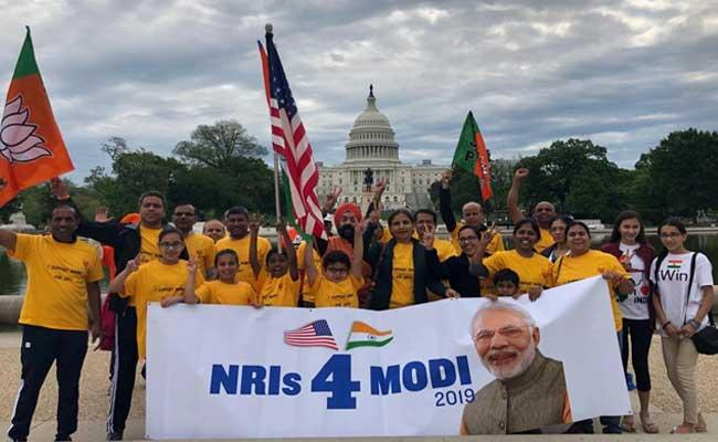 NRIs Show Support For PM Modi And Held NaMo Capital Yatra In Washington - Sakshi