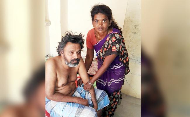 Man Facing Problem With Nerve Disease in Chittoor - Sakshi