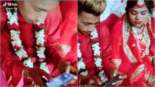 Viral Video Groom Plays PUBG At Own Wedding As Clueless Wife Stares At Him - Sakshi