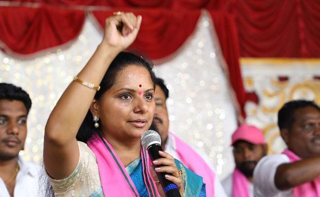 TRS MP Candidate Kavitha Fires Election Campaign At jagtial Korutla - Sakshi