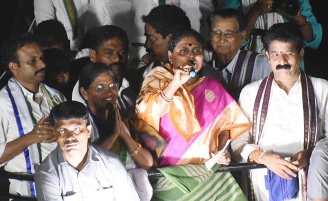 YS Vijayamma Speech At Chodavaram Public Meeting - Sakshi