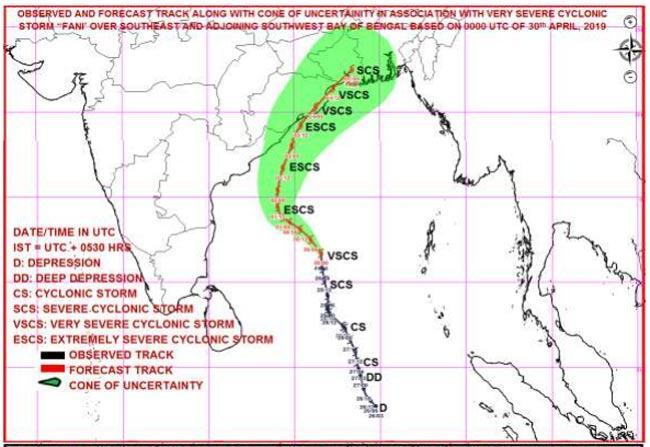 Cyclone Fani Intensifies Into Severe Cyclonic Storm - Sakshi
