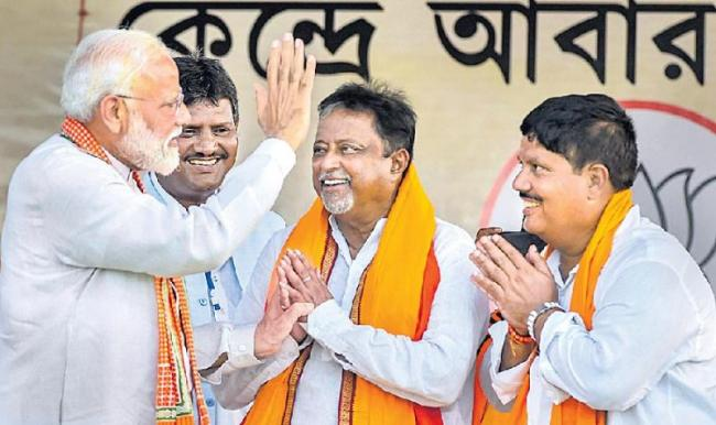 Modi claims 40 TMC MLAs are in touch with BJP - Sakshi