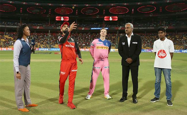 IPL 2019 Rajasthan Won the Toss Opt to Bowl First Against RCB - Sakshi