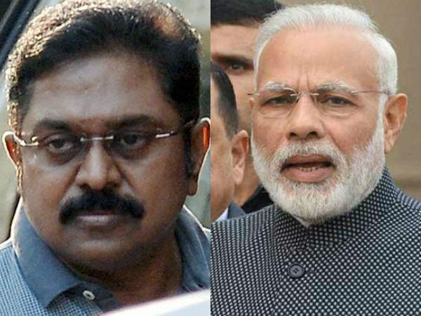 Dhinakaran Warns Neither Modi Nor His Daddy Can Save AIADMK   - Sakshi