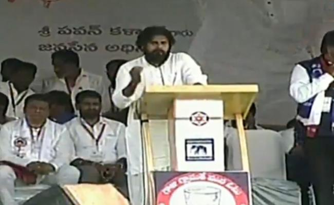 Janasena Chief Pawan Kalyan Slams TDP In Tirupathi - Sakshi