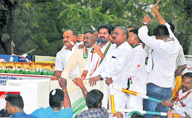 Revanth Reddy Road Show in Balamrai Cantonment - Sakshi