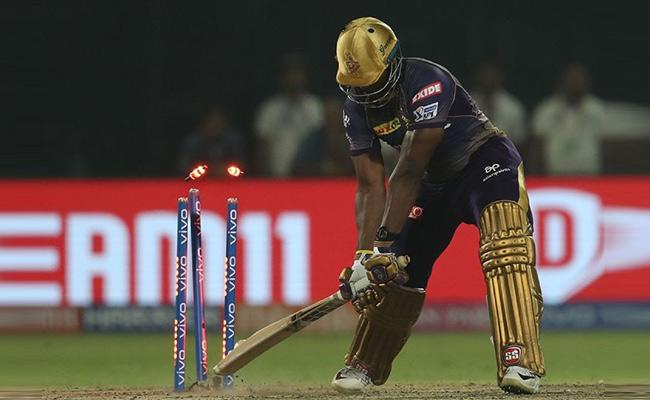 IS Andre Russell Can Not Play Yarkers - Sakshi