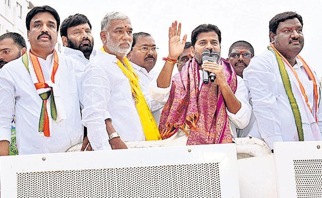 Revanth Reddy Road Show in Malkajgiri - Sakshi