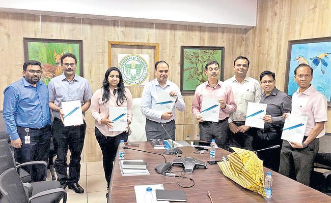 Chief Secretary Releases Report Towards Golden Telangana - Sakshi