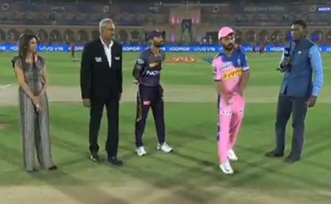 IPL 2019 Kolkata Win Toss opt to bowl Against Rajasthan Royals - Sakshi