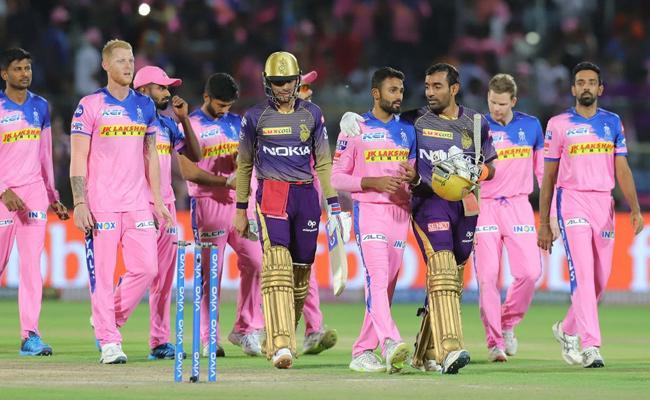 IPL 2019 KKR beat Rajasthan Royals by 8 wickets - Sakshi