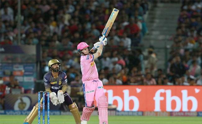 Rajasthan Set Target of 140 Runs Against KKR - Sakshi