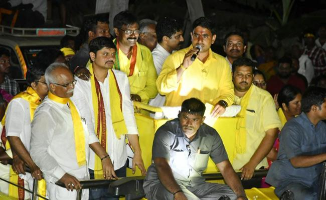 TDP Leaders Not Inviting Nara Lokesh To Campaign - Sakshi