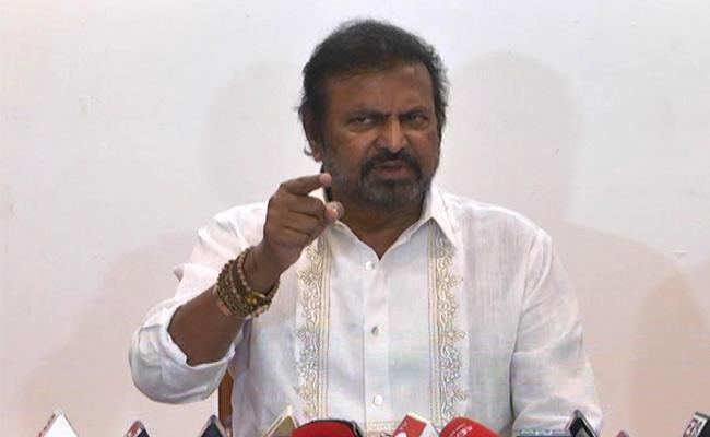 Mohan Babu Criticises Chandrababu In Tiruchanur public Meeting - Sakshi