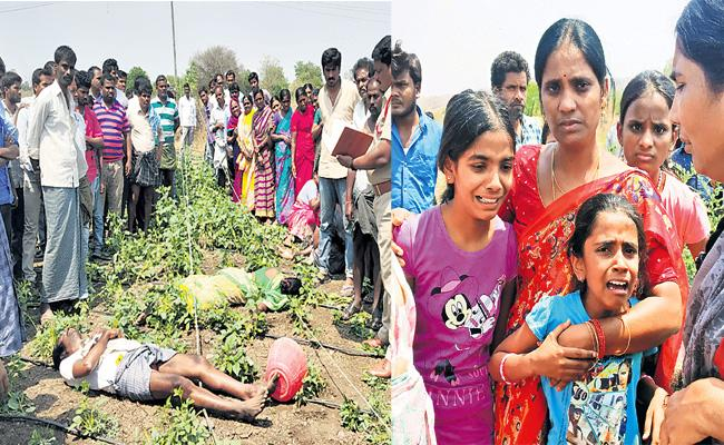 Farmer Couple Died With Current Shock in Rangareddy - Sakshi